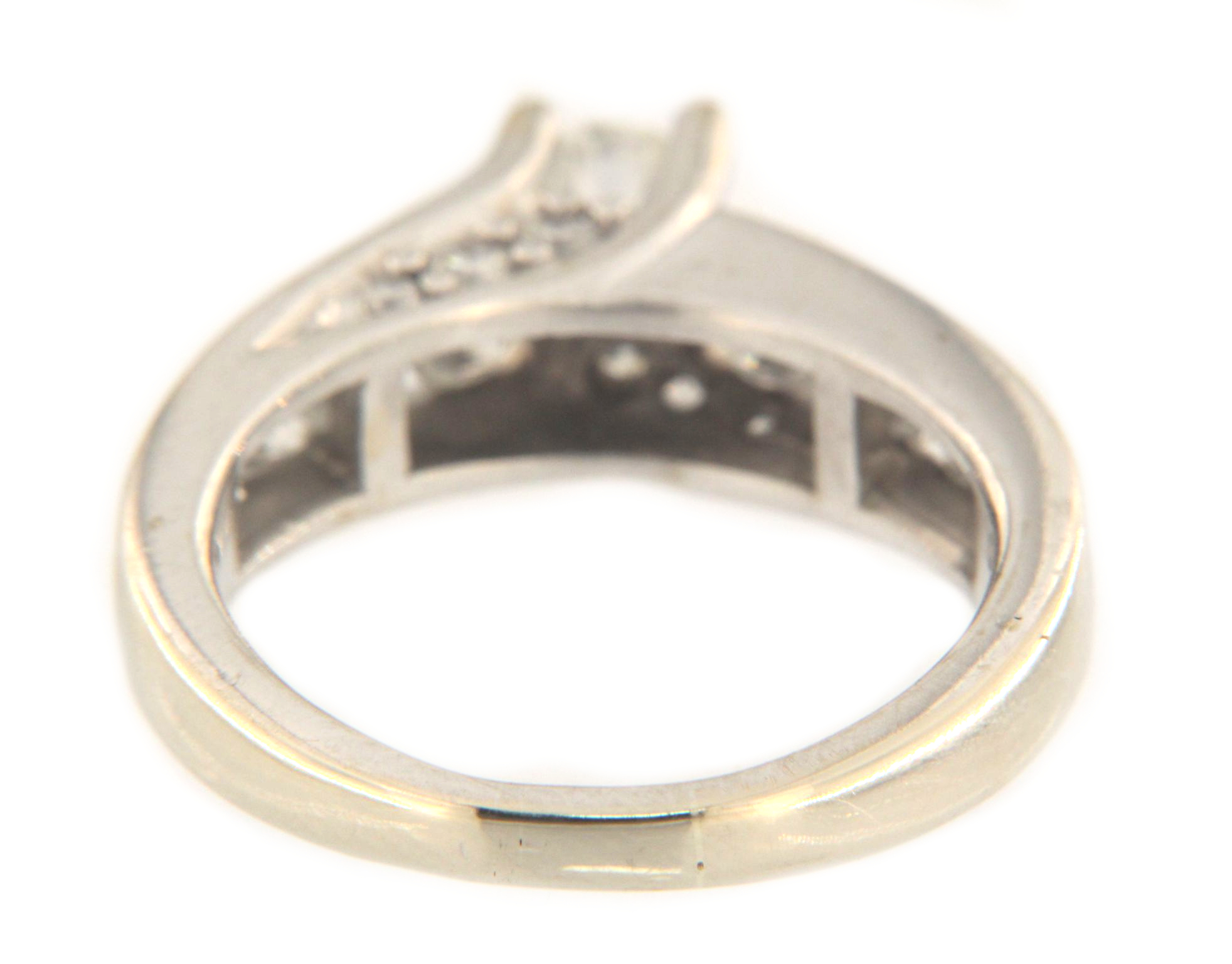 Women's Solitaire ring 14kt White Gold-img-3
