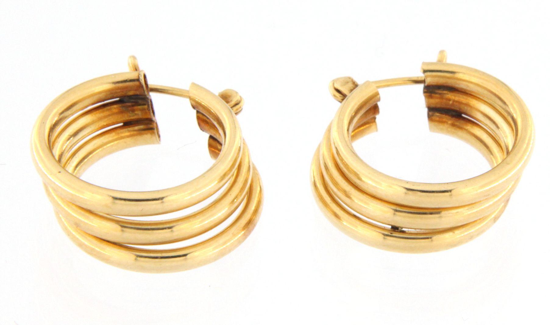 Women's Earrings 14kt Yellow Gold-img-0