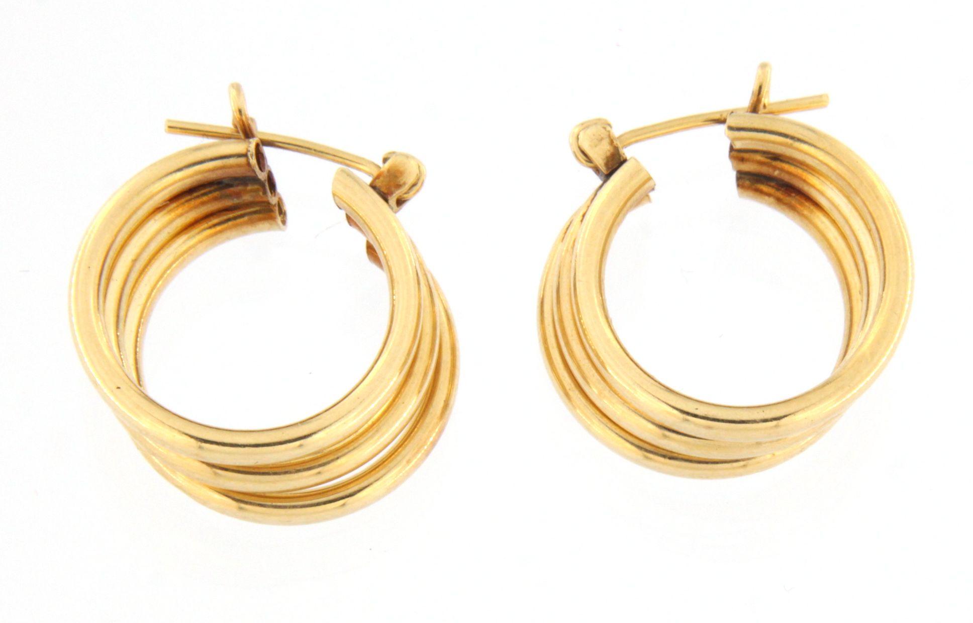 Women's Earrings 14kt Yellow Gold-img-1