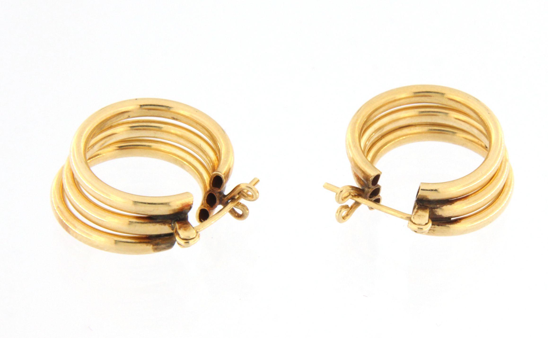 Women's Earrings 14kt Yellow Gold-img-2